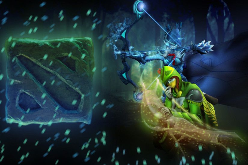 drow ranger traxex and windranger lyralei dota 2 game