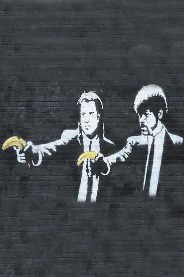 Banksy Pulp Fiction Android Wallpaper. Banksy Pulp Fiction Android Wallpaper
