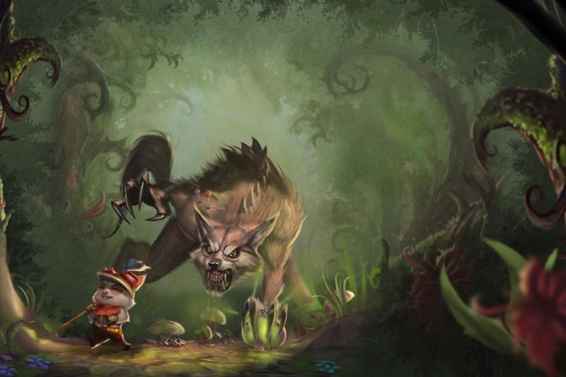 Teemo And Warwick - League Of Legends Wallpaper