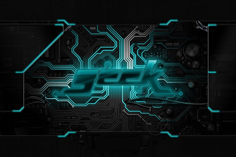 geek chip circuit board neon wallpaper background