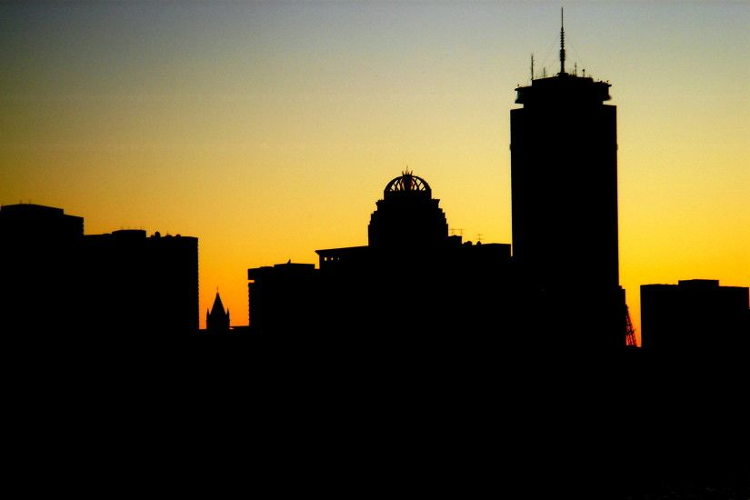 boston skyline at sunset by meredithm boston skyline at sunset by meredithm