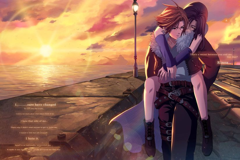 Video Game - Final Fantasy VIII Rinoa Heartilly Squall Leonhart Quote  Wallpaper