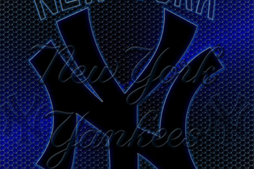 ... wallpapers by wicked shadows new york yankees logo grid wallpaper ...