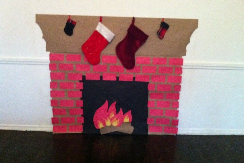 How to Make a Fake Fireplace Ideas for You : How To Make A Fake Fireplace  Out Of Paper. How to make a fake fireplace out of paper.