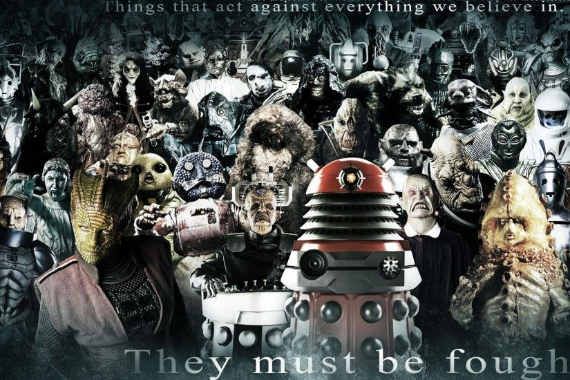 dr who fantasy art | Hd Desktop Wallpaper - dalek cybermen ood doctor who  silence villians