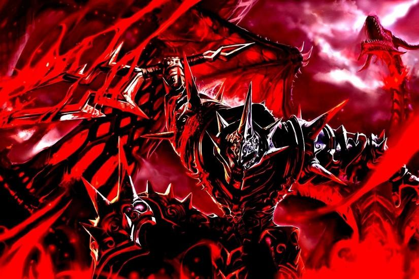 Chaos Champion Dragon Warhammer Blood Magic FullHD Wallpaper