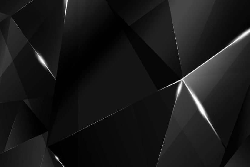 ... Wallpapers - White Abstract Polygons (Black BG) by kaminohunter