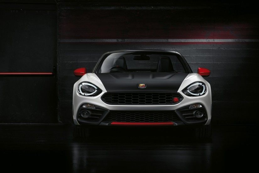 1920x1080 Wallpaper abarth, fiat, front view, black
