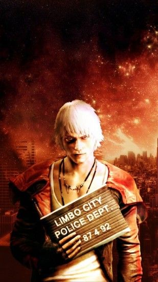 Preview wallpaper devil may cry, dante, city, sky, look 1080x1920