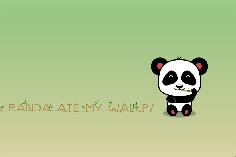 Funny Cute Panda Eat Bamboo Wallpaper - HD Background