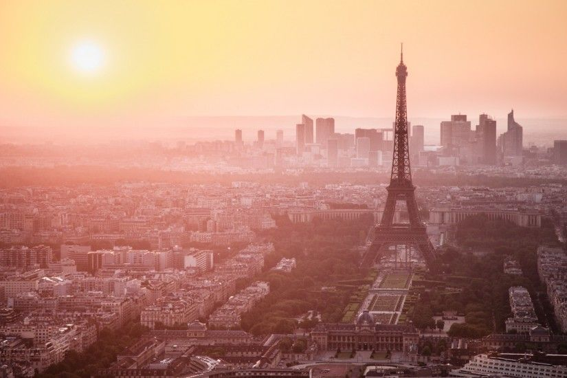 Preview wallpaper city, paris, france, eiffel tower, dawn, morning, look