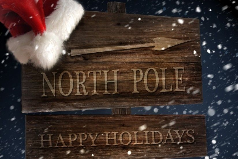 North Pole sign wallpapers and stock photos