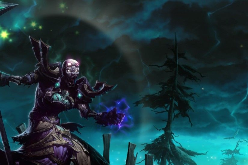 ... Dead Download Wallpaper 3840x1200 Necromancer, Staff, Magic, Trees