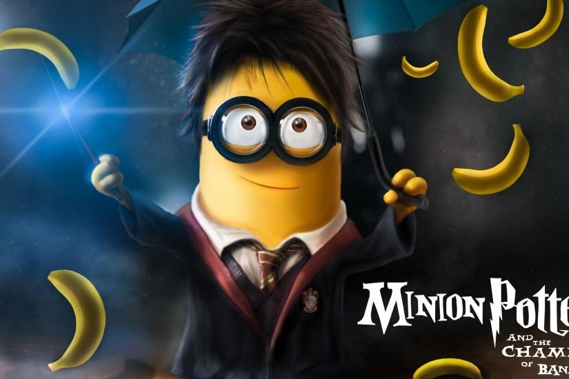 Minion Harry Potter, free computer desktop hd wallpapers, pictures, images