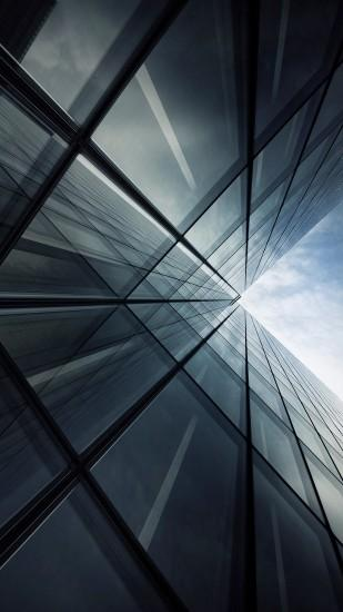 Tall Glass Building Look Up Grey Android Wallpaper ...