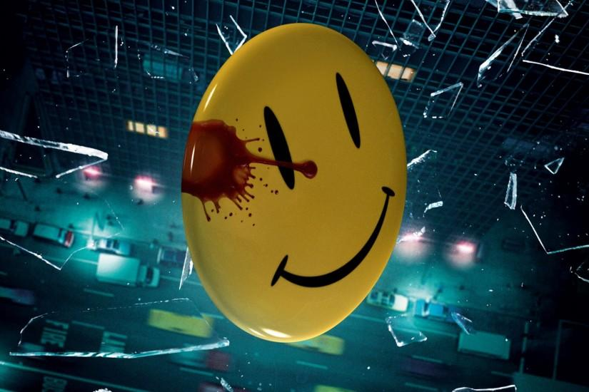 WATCHMEN superhero smiley blood wallpaper