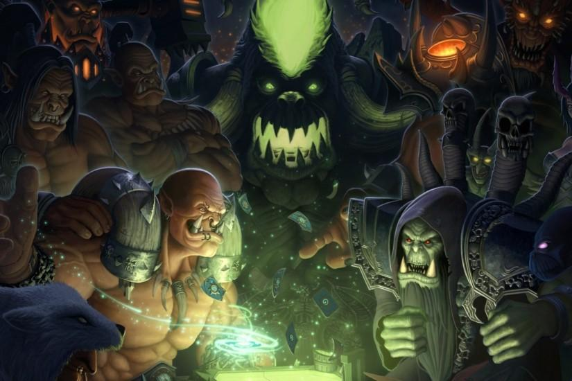 Preview wallpaper hearthstone, warlords of draenor, wow, maps, orcs, world  of