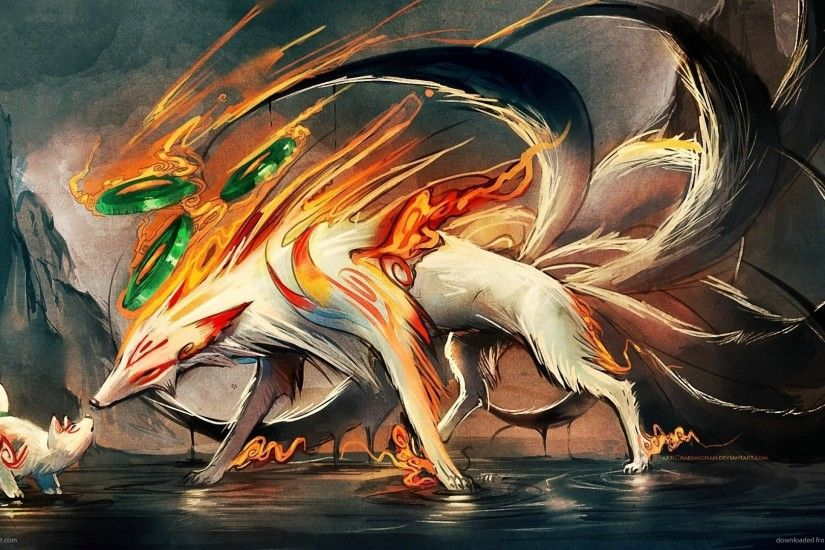 Nine Tailed Fox and Pup picture