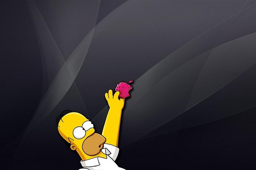 Apple Inc_ Homer Simpson The Simpsons wallpaper | 2560x1600 | 301967 |  WallpaperUP