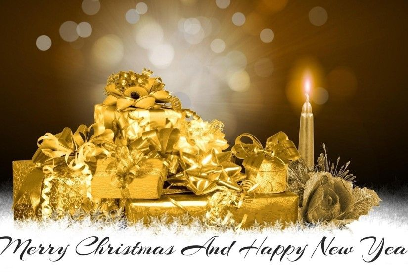 Merry Christmas and Happy New Year Wallpaper for PC.