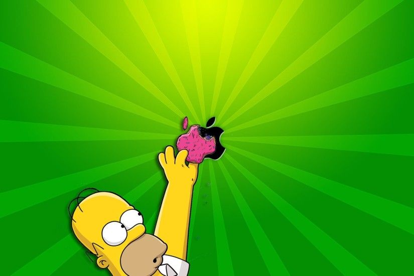 homer simpson apple wallpaper. Â«Â«