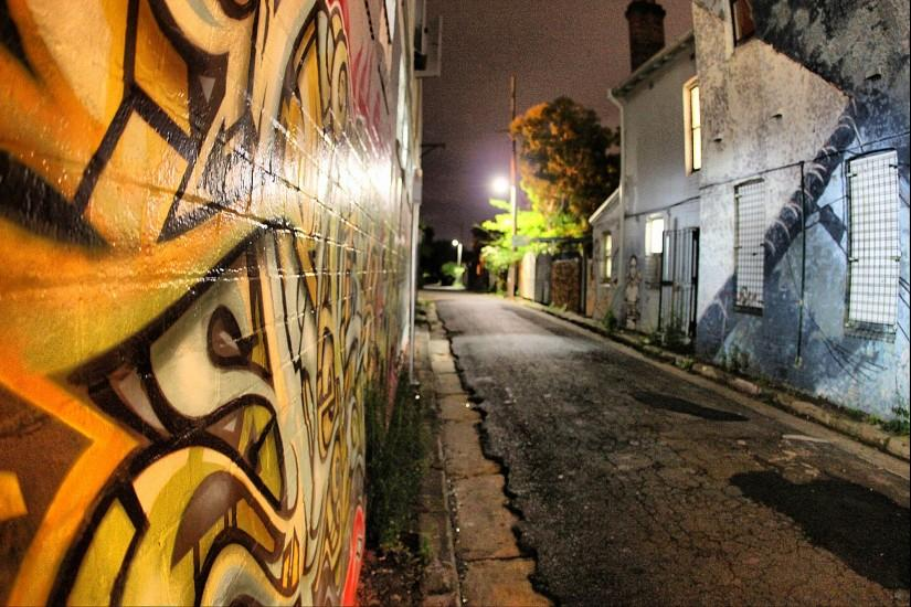 Side Street Graffiti City Formspring Background