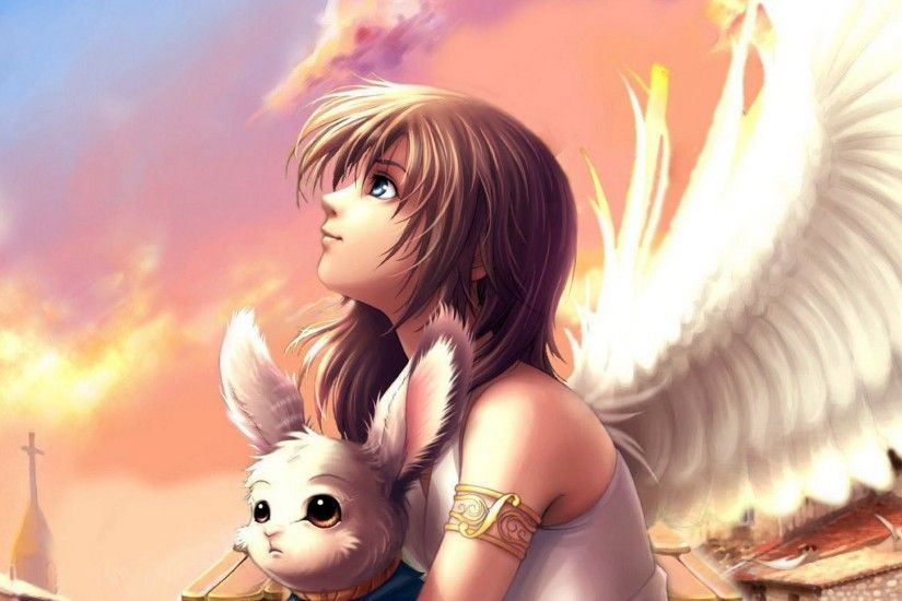 Anime angel wings wallpaper free desktop | Wallpapers, Backgrounds .