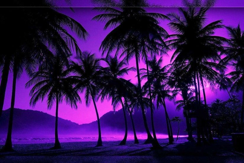 TROPICAL BEACH NIGHT WALLPAPER