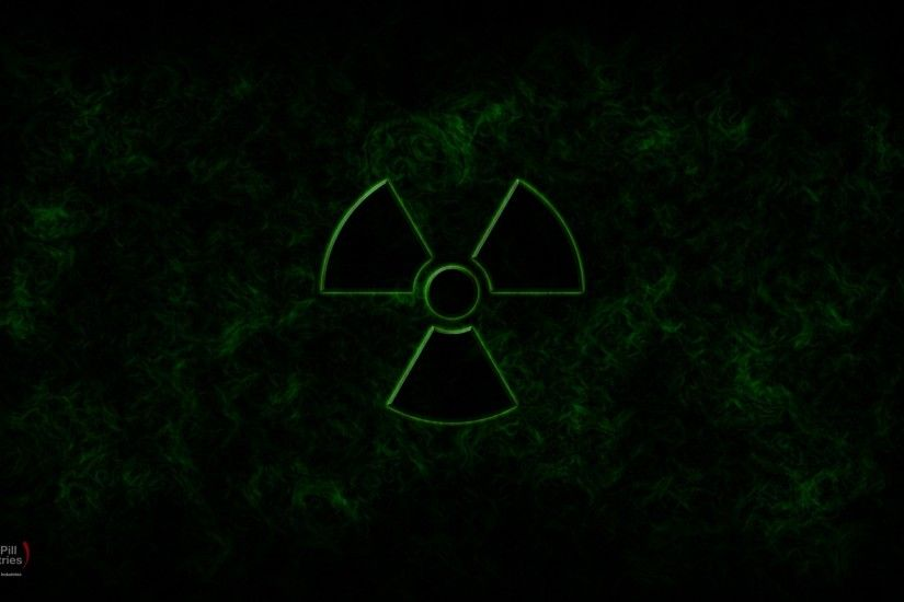 green nuclear symbol radioactive graphic art photo manipulation widescreen  chill pill chill pill ar Wallpaper HD