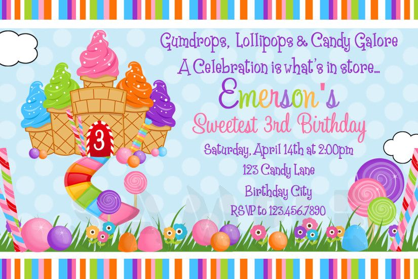 Candyland baby shower invitations gangcraft candyland birthday invitations  plumegiant baby shower invitations salsuba Images