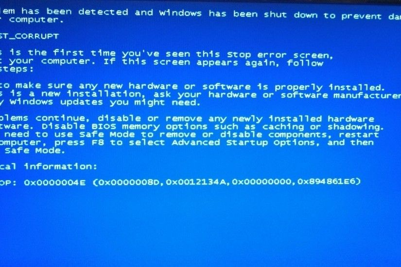 A screenshot of this error on Windows 7 and earlier versions of Windows.