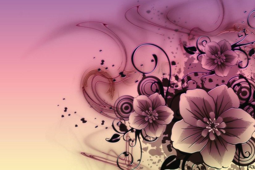 flowers wallpaper desktop background full screen | ORE WALLS