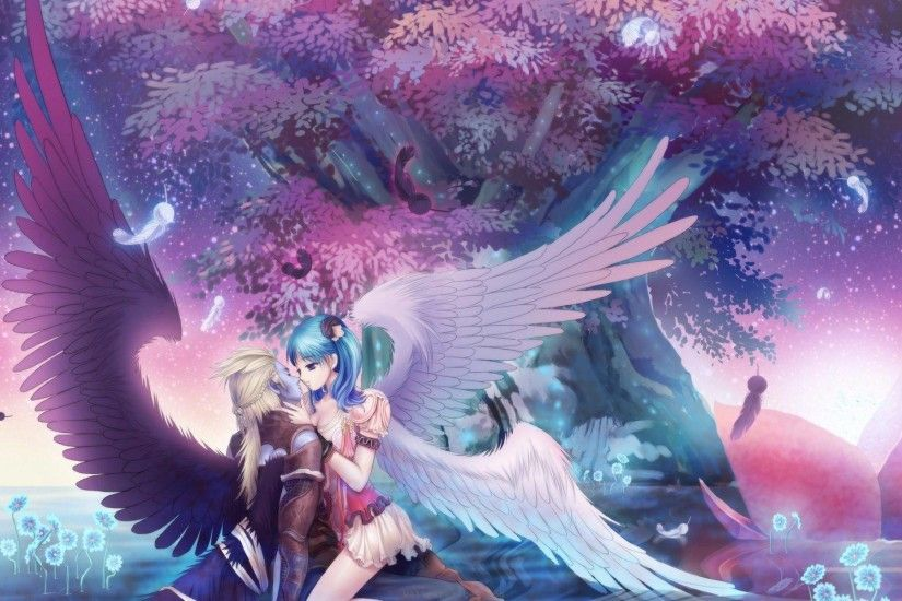 Beautiful angel romance - Anime & Manga Wallpaper