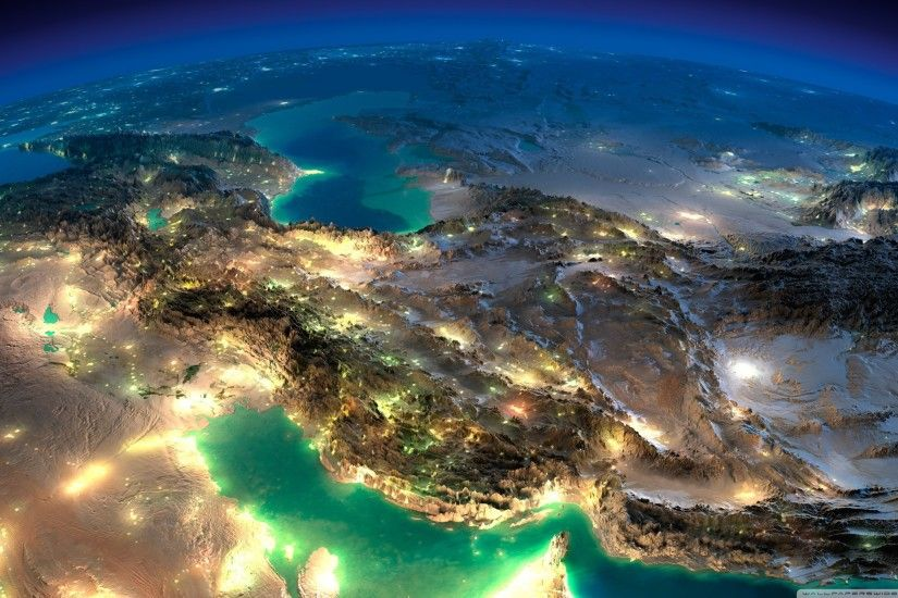 Very Nice Satellite Images Of Iran HD Wide Wallpaper for 4K UHD Widescreen  desktop & smartphone