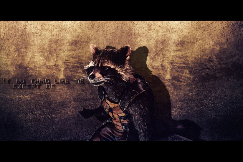 ... Rocket Raccoon wallpaper (3) by BiigM