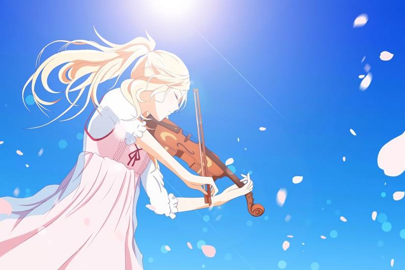 Request done ✔[Shigatsu wa kimi no uso] Can someone extend this and make it  a phone wallpaper? Thanks in advance.