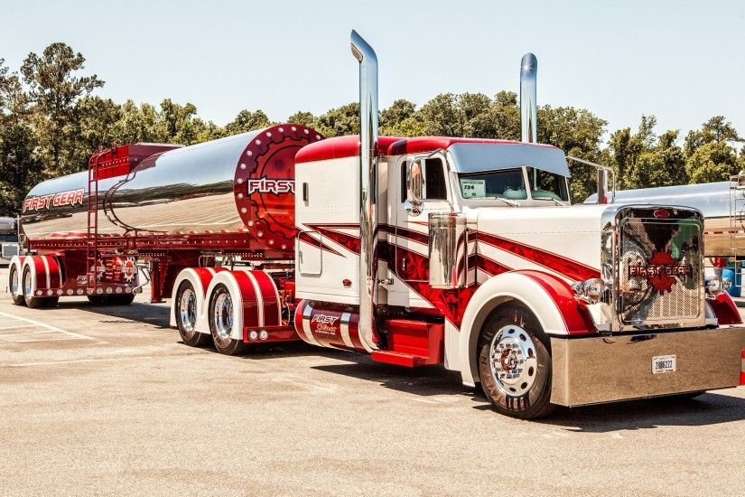 Peterbilt Trucks 389 Stripes tractor semi wallpaper | 2880x1800 .