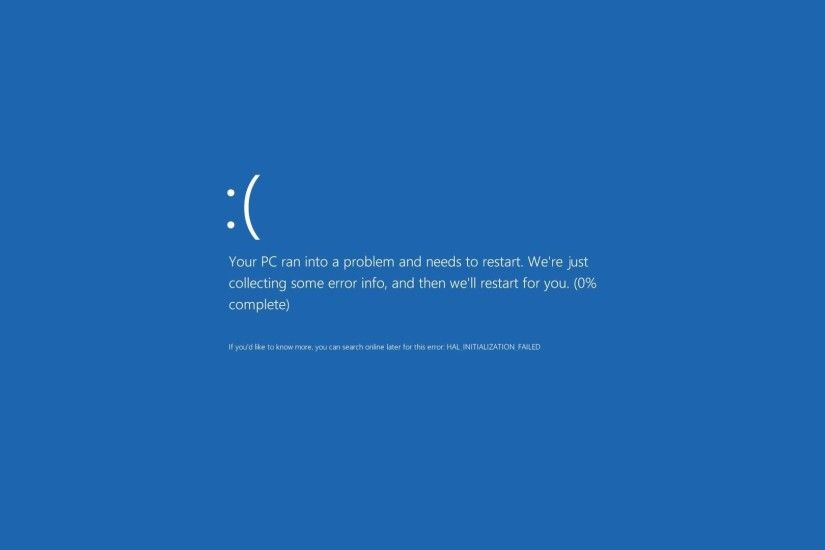 Fake Windows 8 BSOD (your PC ran into a problem) (prank your friends) -  YouTube