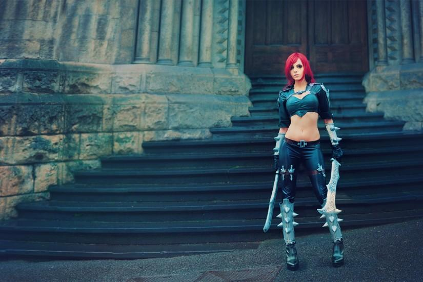 ... League of Legends - Katarina [ 1080p Wallpaper ] by beethy