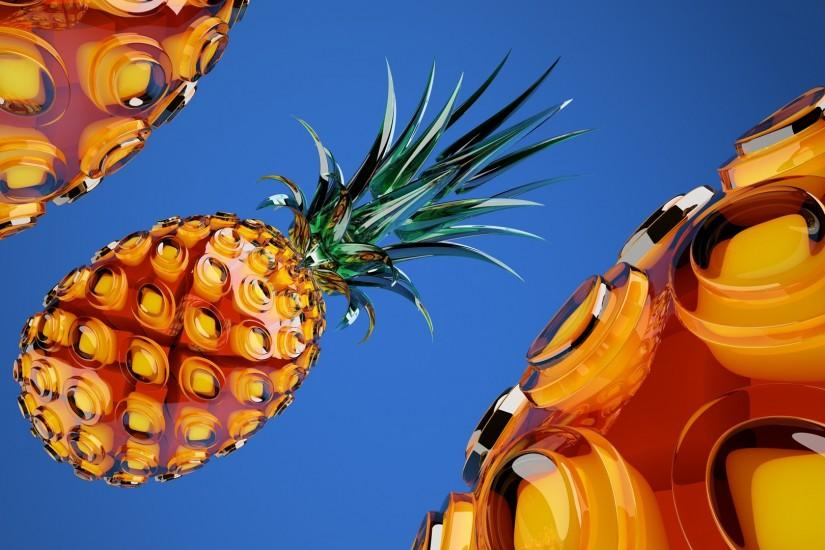 Stunning Pineapple HD Wallpaper Free Download