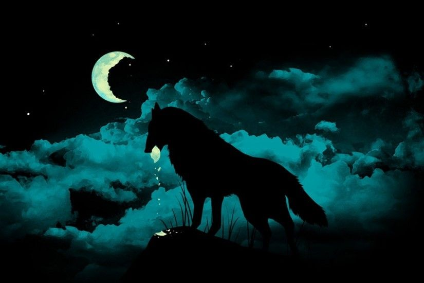HD Widescreen Wallpapers - wolf and moon pic by Dalton Williams
