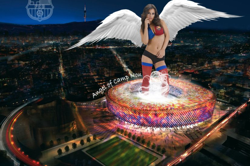... Angel of Camp Nou by Lord-Iluvatar