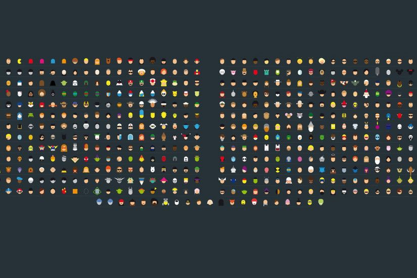 More Minimalist Pop Culture Characters [1920x1080] ...