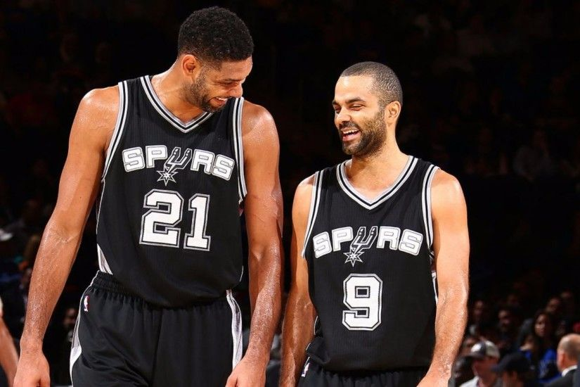 Tony Parker and 2016 Spurs Tim Duncan 4K Wallpapers