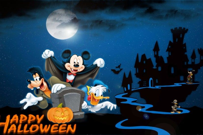 Mickey, Donald, and Goofy Happy Halloween 4K Wallpapers