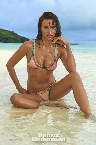 Irina Shayk was photographed by Yu Tsai in The Islands Of Tahiti. Swimsuit  by KIINI