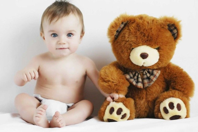 Sweet Boy Child Toy Teddy Bear Wallpaper | HD Cute Wallpaper Free Download  ...