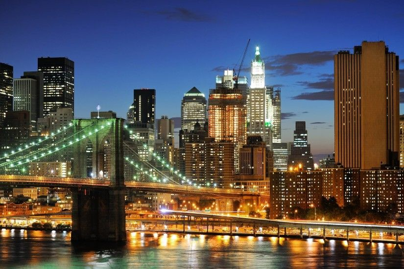 Skyscrapers United States Ny City Wallpaper With 1366X768 .