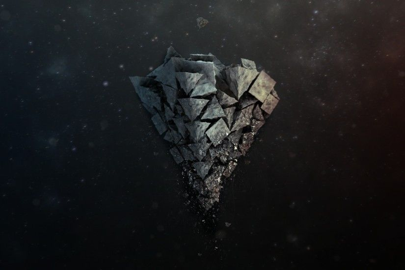 Preview wallpaper shards, stone, background, light 2560x1440