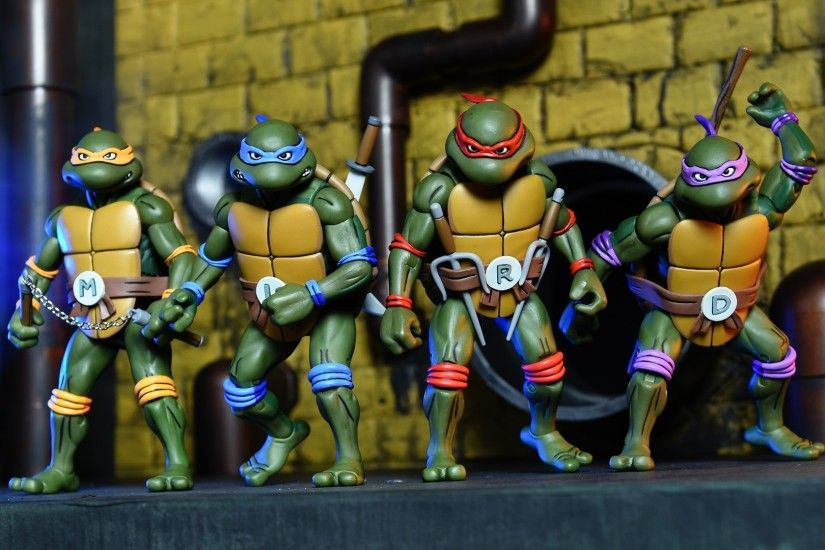 NECA toys reveals new cartoon style TMNT box sets that include the turtles  and the Foot Clan